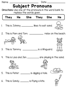 Subject And Object Pronoun Worksheet Teachers Pay Teachers
