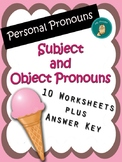 Personal Pronouns - Subject and Object Pronouns Worksheets.
