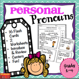 Personal Pronouns Task Cards Grades 2-4