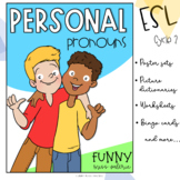 Personal Pronouns Unit (Poster Sets - Worksheets - Bingo Cards)