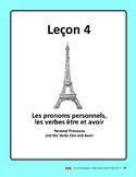 French Etre & Avoir Song and Writing Activities