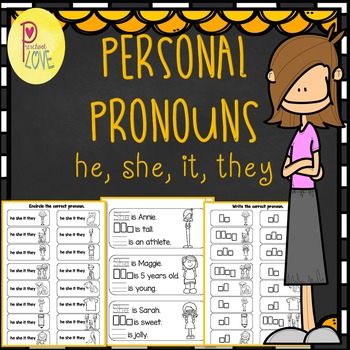 personal pronouns worksheet by preschool love  teachers pay teachers
