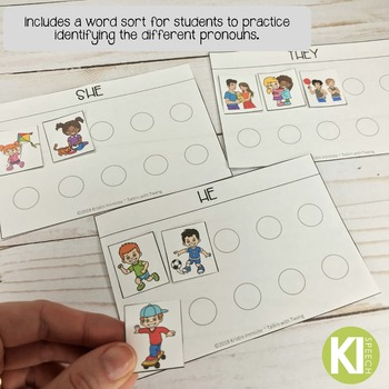 Personal Pronouns (he, she, they) Flashcards and Activities