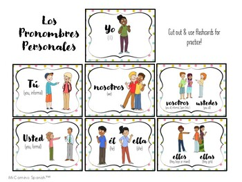 Learn Personal Pronouns in Spanish!