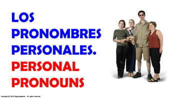 Personal Pronouns. Power Point Presentation with audio.