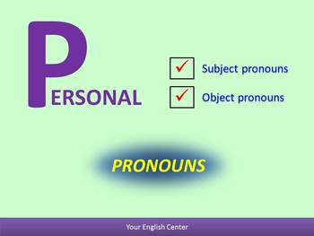 Personal Pronouns - including exercises