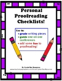 Proofreading Checklists
