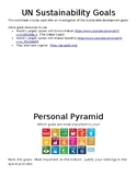 Personal Pyramid - Sustainability Goals that Matter to Me