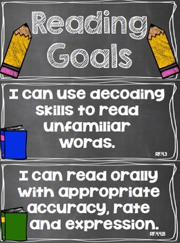 Reading Goals Clip Chart - 4th Grade