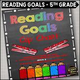 Reading Goals Clip Chart - 5th Grade