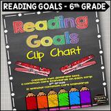 Reading Goals Clip Chart - 6th Grade