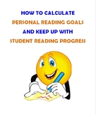 Personal Reading Goals & Student Reading Progress Charts