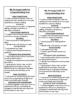 StudentGuide for  Reading Strategies