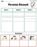 Personal Recount Graphic Organizer