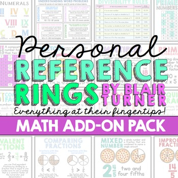Personal Reference Rings {MATH ADD-ON PACK}