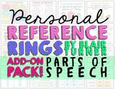 Personal Reference Rings {Parts of Speech ADD-ON PACK}