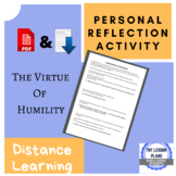 Personal Reflection Assignment - Humility - Distance and Online Learning
