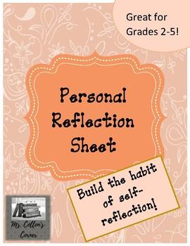 Personal Reflection sheet