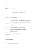 Personal Responsibility Paper