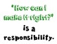 Personal Responsibility Poster