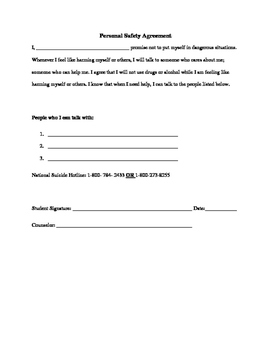 Personal Safety Agreement/ Contract