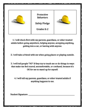 Personal Safety Pledge: K-2