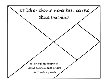 Personal Safety / Protective Behaviors: Secrets, Touching puzzle