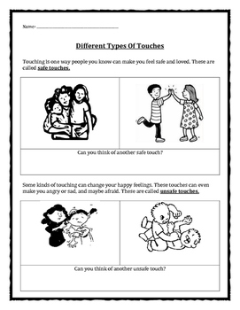 Personal Safety / Protective Behaviors: Types of Touches