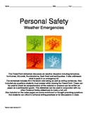 Personal Safety: Weather Emergencies and Natural Disasters Notes Pages