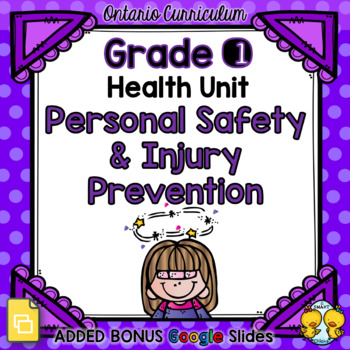 Personal Safety and Injury Prevention – Grade 1 Health Unit