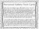 Personal Safety and Injury Prevention Task Cards (Grade 2)