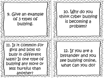 Personal Safety and Injury Prevention Task Cards (Grade 4)