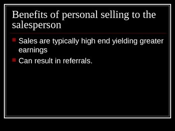 Personal Selling Concepts