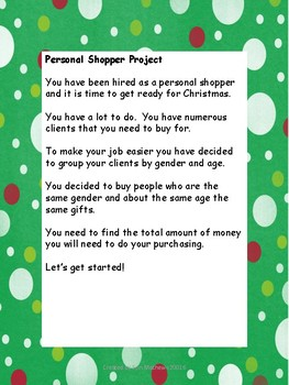 Personal Shopper Christmas Project