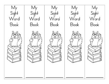 Personal Sight Word Book