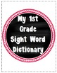 Personal Sight Word Dictionary