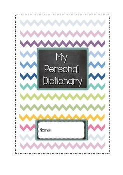 Personal Dolch Sight Word Dictionary
