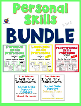 Personal Skills Bundle (Toileting Skills, Language Skills, Personal Skills)
