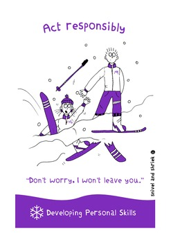 Personal Skills Posters - 10 Illustrated Personal Skills