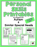 Personal Life Skills Printables for Students with Autism & Similar Special Needs