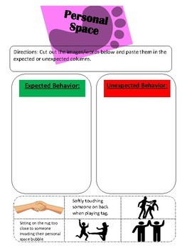 Personal Space (social skills lesson)