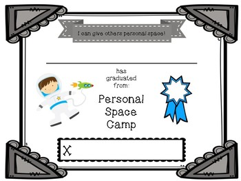 personal space camp certificates by lanyards and lessons tpt