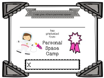 Personal Space Camp Certificates