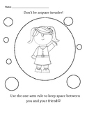 Personal Space Camp: Girl Space Invader coloring sheet