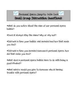 Personal Space Camp Group Discussion Questions
