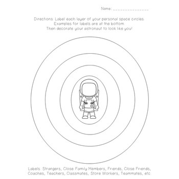 Personal Space Camp Worksheets (Pre-K, First and Second)
