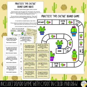 Personal Space Games Practice the Cactus Counseling Game