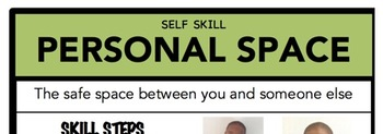 Personal Space Social Skill Steps Poster - The Empower Program K-2