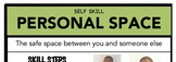 Personal Space Social Skill Steps Poster - The Empower Pro