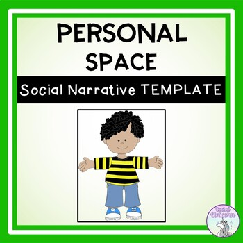 Personal Space - Social Story Template